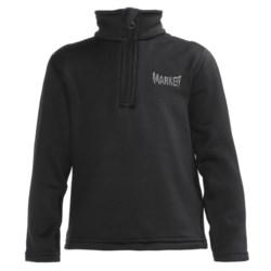 Marker Active Fleece Shirt - Mock Zip Neck, Long Sleeve (For Little Kids)