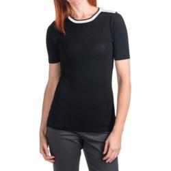Cullen Knit Contrast-Collar Shirt - 3/4 Sleeve (For Women)