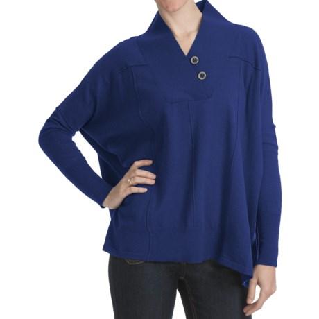 Cullen Blanket Sweater - Extrafine Merino Wool-Cotton (For Women)