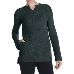 Cullen Superfine Wool-Cashmere Shaker Knit Tunic Sweater (For Women)