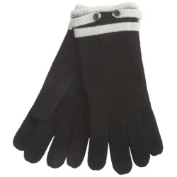 Cullen Contrast-Tipped Driving Gloves - Cashmere (For Women)
