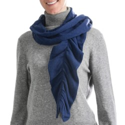 Cullen Twisty Pucker Scarf - Cashmere (For Women)
