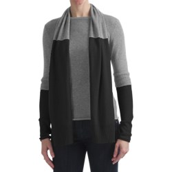 Cullen Two-Layer Sweater with Detachable Scarf - Cashmere (For Women)