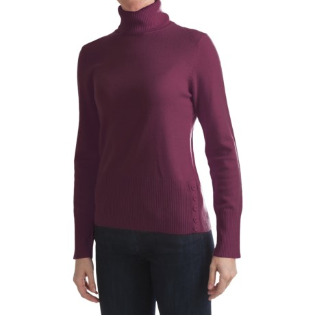 Cullen Ribbed Back Turtleneck Sweater - Cashmere (For Women)
