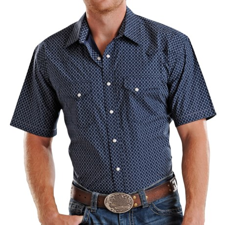 Rough Stock by Panhandle Slim Europa Antique Print Shirt - Snap Front, Short Sleeve (For Men)