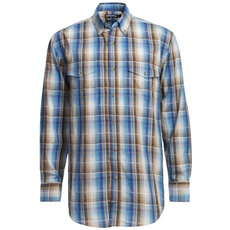 Panhandle Slim Poplin Satin Plaid Shirt - Long Sleeve (For Men)
