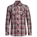 Rock & Roll Cowboy Satin Plaid Cross Shirt - Snap Front, Long Sleeve (For Men)