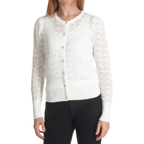 Cullen Cotton Lace Cardigan Sweater (For Women)