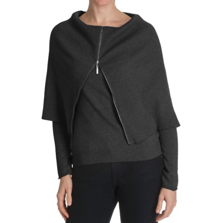 Cullen Superfine Wool-Cashmere Sweater - Zip Cowl Neck (For Women)