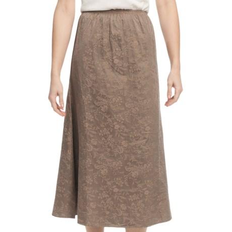 Pulp Silk-Cotton Jacquard Skirt - Elastic Waistband (For Women)