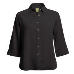 Pulp Button-Front Shirt - TENCEL®, 3/4 Sleeve (For Plus Size Women)