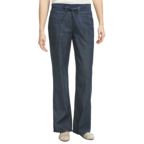 Pulp Denim Pants - Drawstring Stretch Waistband (For Women)