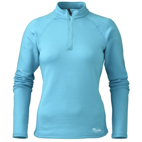 Marker Active Fleece Shirt - Zip Neck, Long Sleeve (For Women)