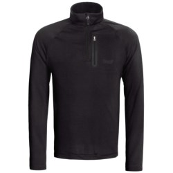 Marker Grid Fleece Shirt - Zip Neck (For Men)