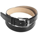 Mezlan Hand-Antiqued Italian Calfskin Belt (For Men)