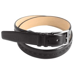 Mezlan Tumbled Italian Calfskin Belt (For Men)