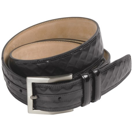 Mezlan Waffled Italian Nappa Calfskin Belt (For Men)