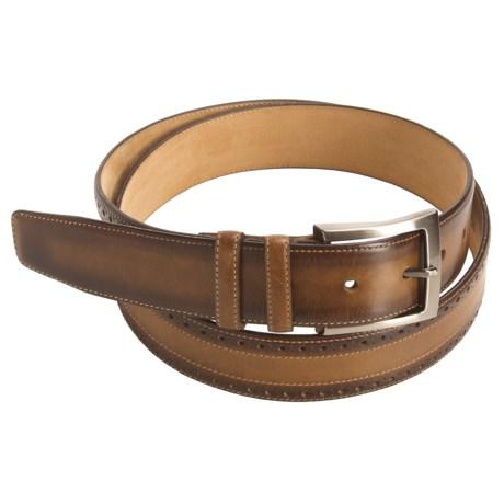 Mezlan Hand-Rubbed Calfskin Belt (For Men)