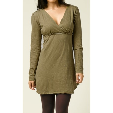prAna Mikayla Empire Waist Dress - Organic Cotton, Long Sleeve (For Women)