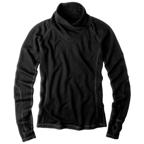 prAna Gillian Pullover Shirt - Merino Wool, Crossover Cowl Neck, Long Sleeve (For Women)