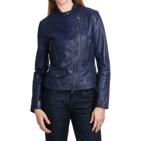 Marc New York by Andrew Marc Marc New York Giselle Distressed Leather Jacket (For Women)