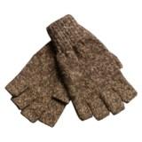 Jacob Ash Ragg Wool Fingerless Gloves (For Men)