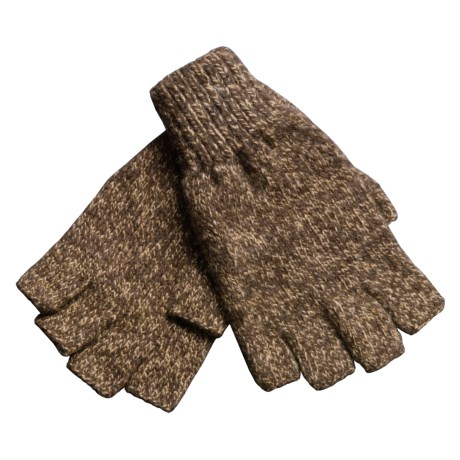 Jacob Ash Ragg Wool Fingerless Gloves (For Men)