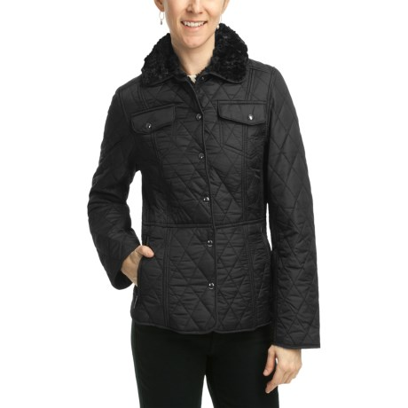 Weatherproof Quilted Jacket - Faux-Fur Lining (For Women)