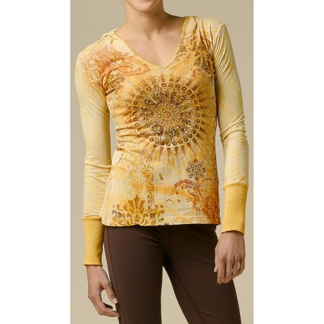 prAna Rapture Hoodie Shirt - Burnout, Long Sleeve (For Women)