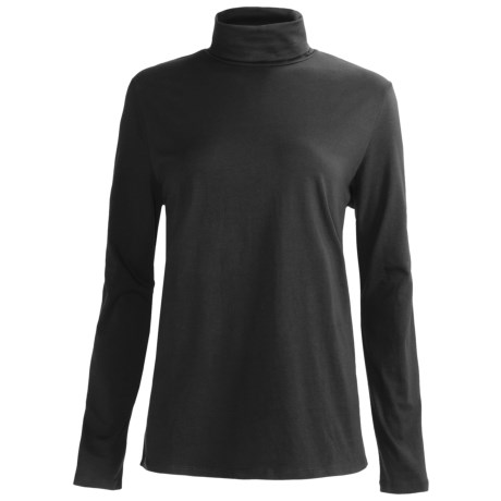 Specially made Heathered Stretch Cotton Turtleneck - Long Sleeve (For Women)