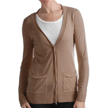 Odeon by Belford Cotton Cardigan Sweater (For Women)