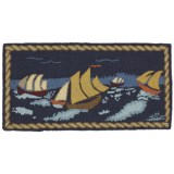 Chandler 4 Corners Hooked Wool Area Rug - 2x4'