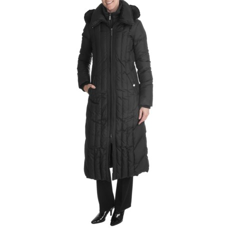 Ellen Tracy Outerwear Quilted Down Coat (For Women)