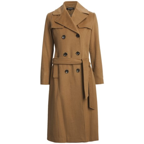 Ellen Tracy Outerwear Long Trench Coat - Wool Blend (For Women)