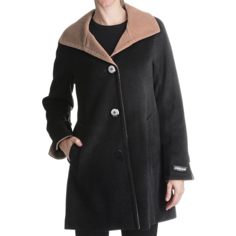 Ellen Tracy Outerwear Swing Coat - Wool Blend (For Women)