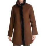 Ellen Tracy Outerwear Wool Blend Car Coat - Faux-Fur Trim (For Women)