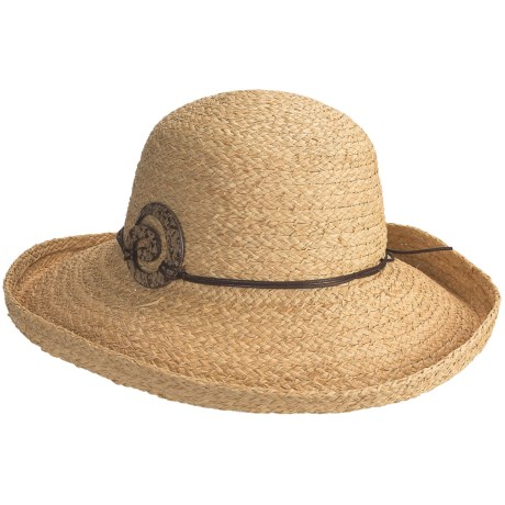 Caribbean Joe Raffia Braid Hat (For Women)