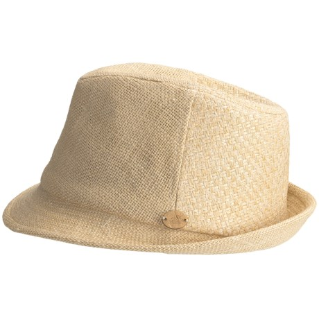 Caribbean Joe Woven Fedora Hat (For Men and Women)