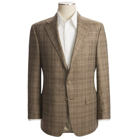 Hickey Freeman Windowpane Sport Coat - Silk-Linen (For Men)