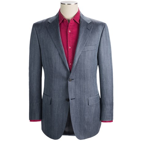 Hickey Freeman Herringbone Sport Coat - Wool-Silk-Linen (For Men)