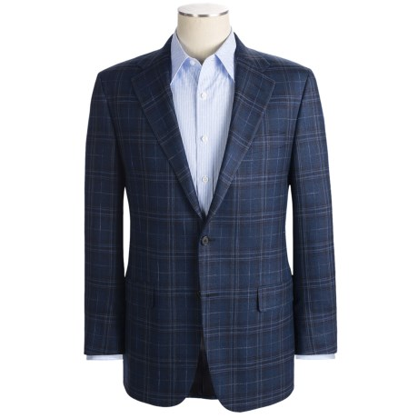 Hickey Freeman Windowpane Sport Coat - Wool-Silk-Linen (For Men)