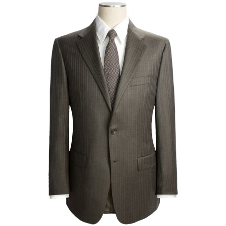 Hickey Freeman Beaded Track Stripe Suit - Worsted Wool (For Men)