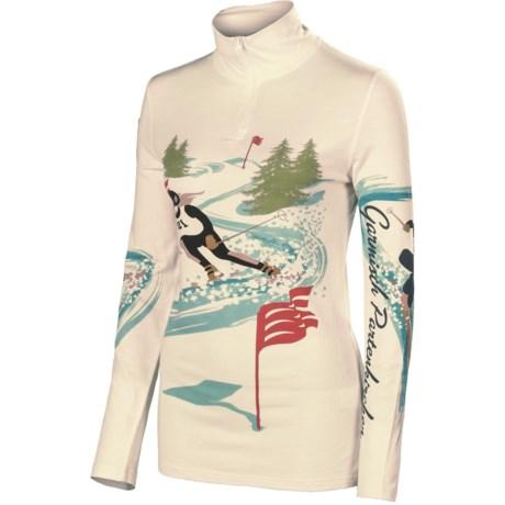 Neve Ski Racer Base Layer Top - Silk-Merino Wool, Zip Neck, Long Sleeve (For Women)