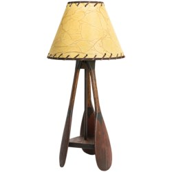 All Resort Furnishings Canoe Paddle Table Lamp - Ash Wood