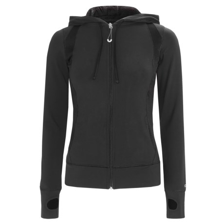 Alo Synergy Hoodie Jacket - Mesh Inset (For Women)