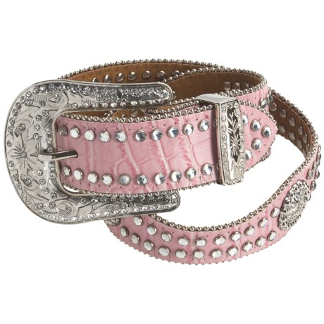 Nocona Scalloped Rhinestone Belt (For Girls)