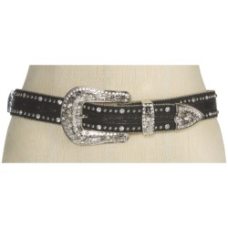Nocona Gator Print and Crosses Belt - Leather (For Women)