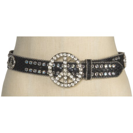 Nocona Peace Buckle Belt - Leather(For Women)