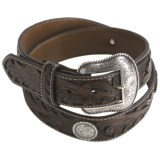 Nocona Leather Conchos Belt (For Men)