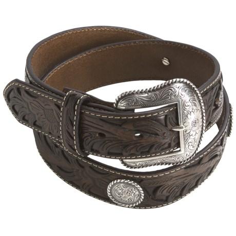 Nocona Leather Conchos Belt (For Men)
